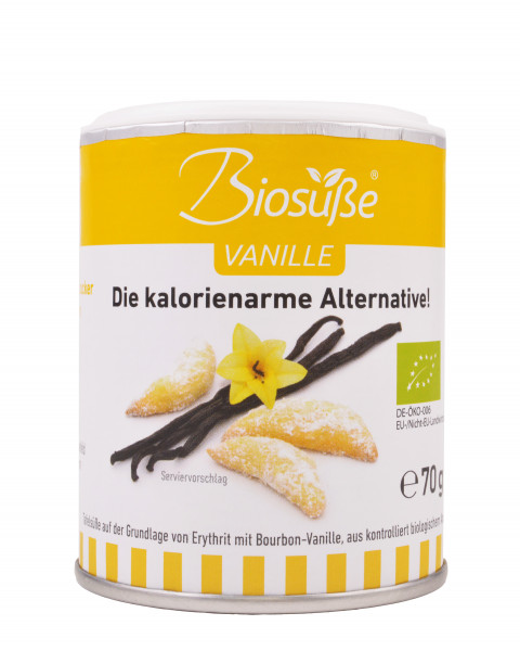 Biosüße Bio-Erythrit Vanille Dose 70g