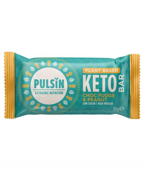 Pulsin Keto Bar Choc Fudge & Peanut Riegel 50g