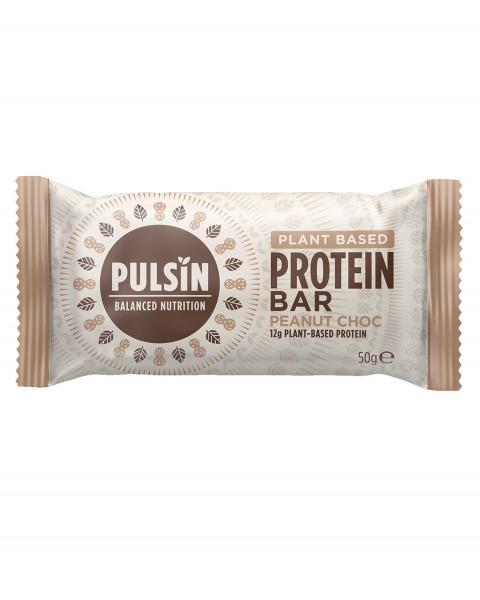 Pulsin Protein Booster Peanut Choc Riegel 50g