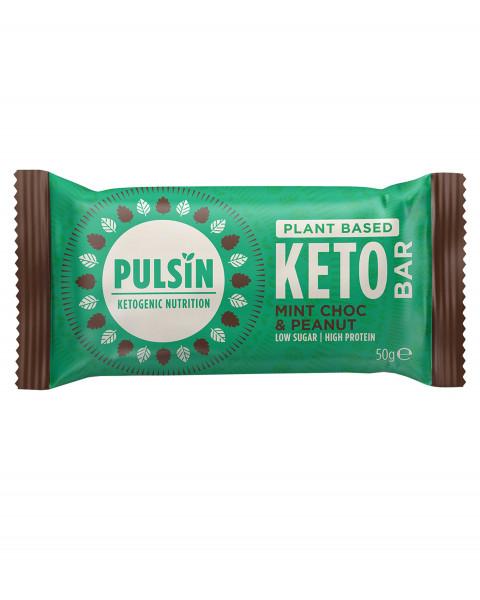 Pulsin Keto Bar Mint Choc & Peanut Riegel 50g