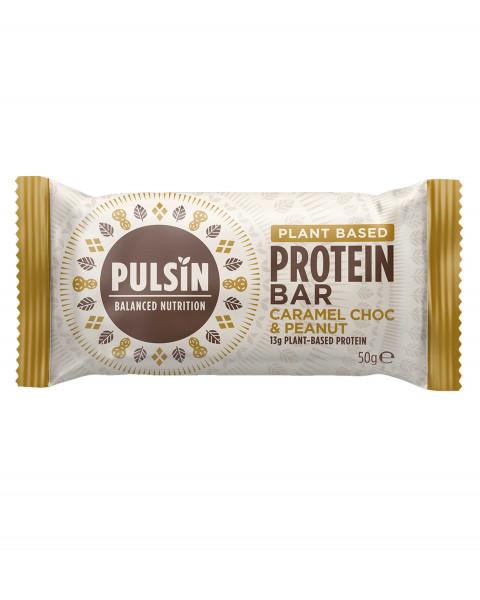 Pulsin Protein Booster Caramel Choc & Peanut Riegel 50g