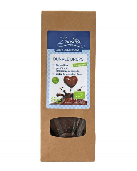 Biosüße Bio-Schokolade Dunkle Drops Bag 100g