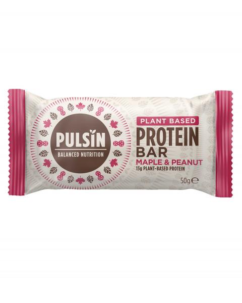 Pulsin Protein Booster Maple & Peanut Riegel 50g