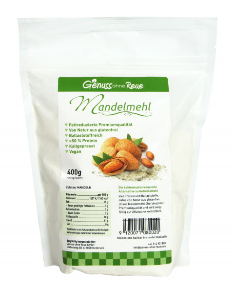 Genuss ohne Reue Mandelmehl Bag 400g