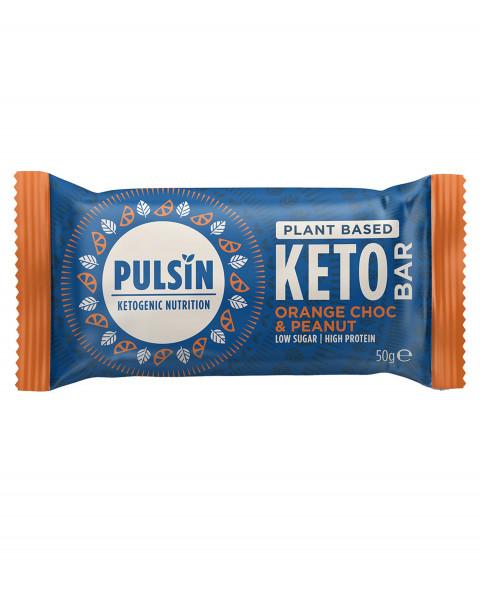 Pulsin Keto Bar Orange Choc & Peanut Riegel 50g