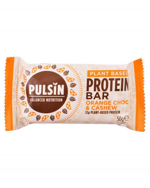 Pulsin Protein Booster Orange Choc Chip Riegel 50g